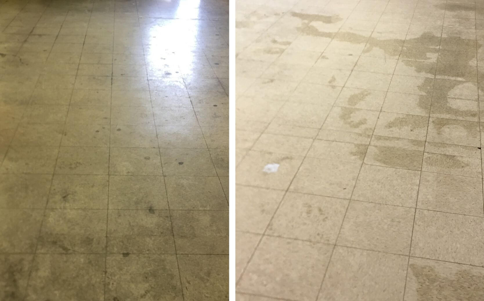 business floors after a vinyl composition tile cleaning in Altanta, GA
