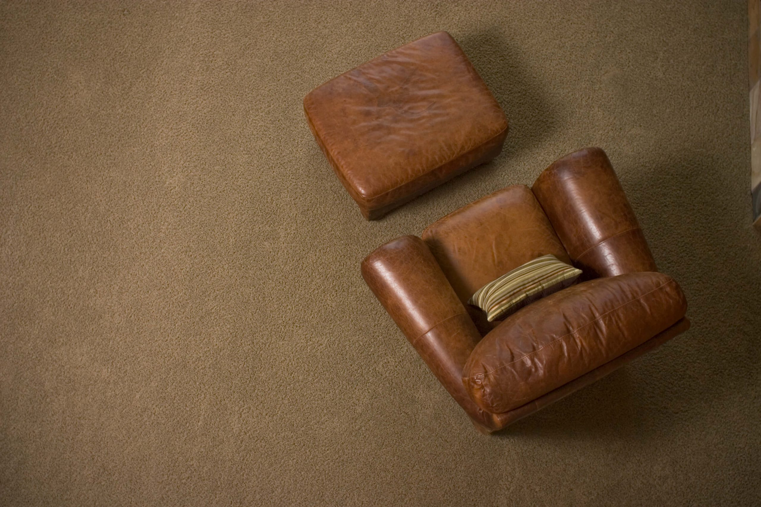 armchair after a leather furniture cleaning in atlanta ga