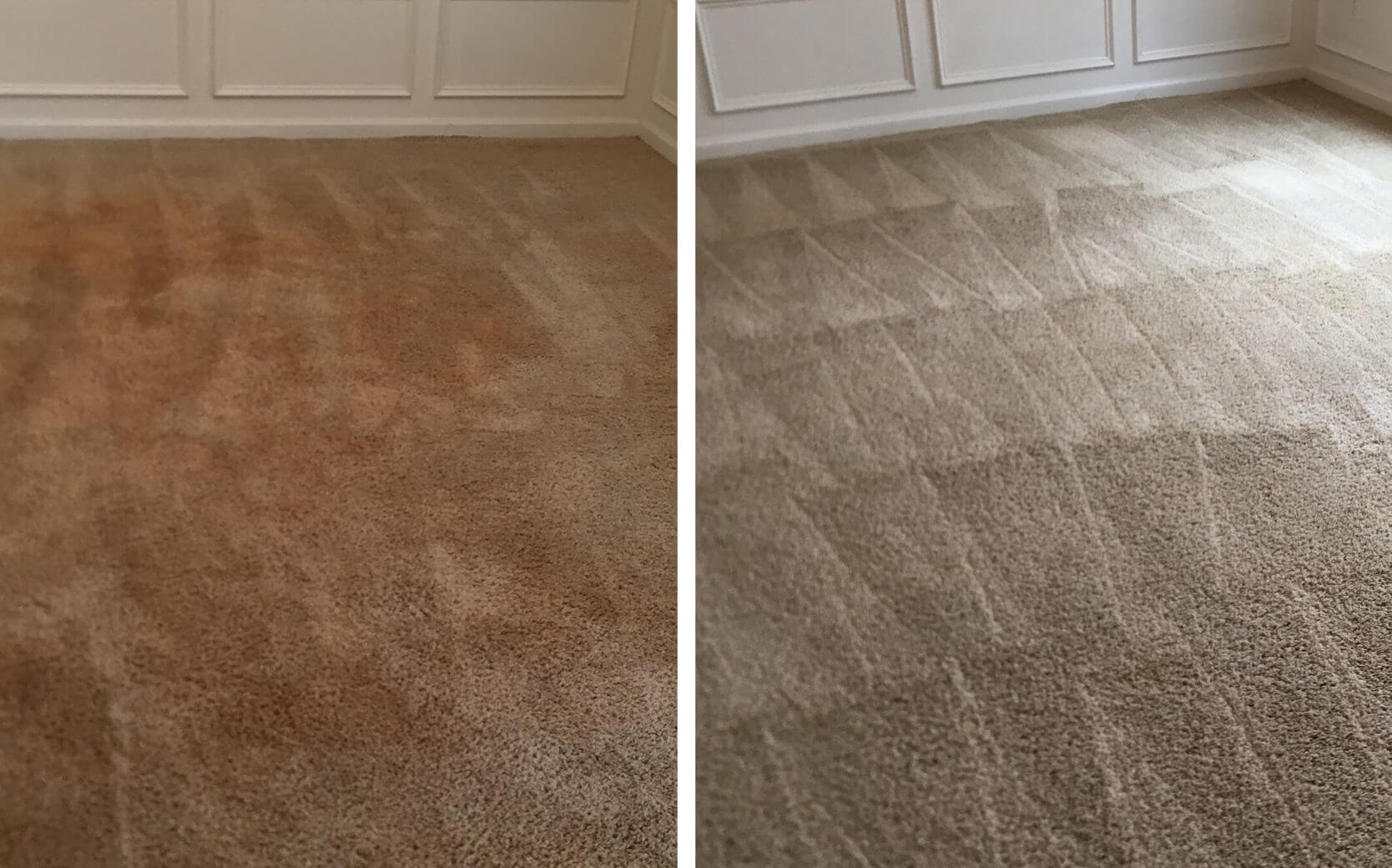 brown carpet before and after carpet cleaning in atlanta ga